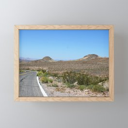 Entering Death Valley Framed Mini Art Print
