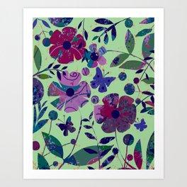 New Violets Art Print