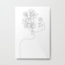 Dreamy Girl Bloom Metal Print