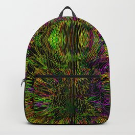 Purple Yellow Line Burst Backpack
