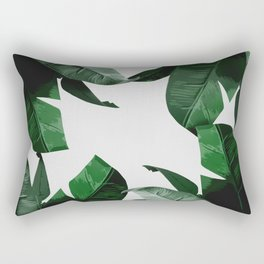 Banana Palm Leaves Rectangular Pillow