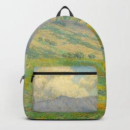 Granville Redmond Hazy Day in Antelope Valley, 1932 Oil Painting Vintage American Art Backpack