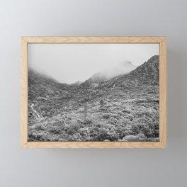 Fog mountains Framed Mini Art Print