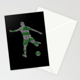 Soccer Player I Leisure Time Soccer Player Stationery Cards