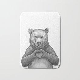 Bear with love Bath Mat