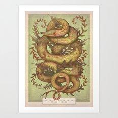 The Fern Viper Art Print