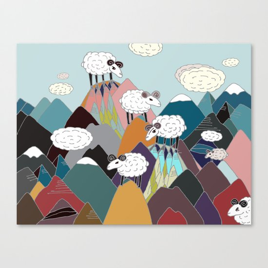 Clouds and Sheep Canvas Print