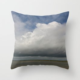 Clouds Over The Marsh Throw Pillow