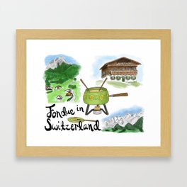 Fondue in Switzerland Framed Art Print