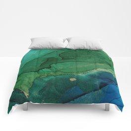 Ocean gold Comforters