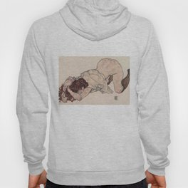 KNEELING GIRL, RESTING ON BOTH ELBOWS - EGON SCHIELE Hoody