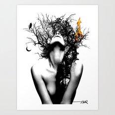 WISDOM AND FIRE Art Print