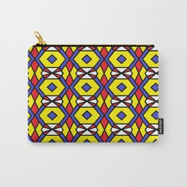 Honeycomb Belt Buckle Fastener Pattern Carry-All Pouch