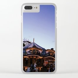 Belmont Park Carousel Clear iPhone Case
