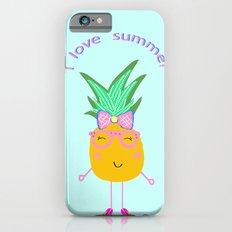 Cute Hipster Pineapple iPhone 6s Slim Case