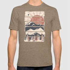 Winter Pursuits... MEDIUM Tri-Coffee Mens Fitted Tee