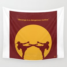No178 My Kickboxer minimal movie poster Wall Tapestry