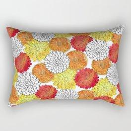 Dahlia Garden Summer Rectangular Pillow