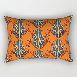 congo tree frog orange Rectangular Pillow