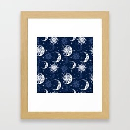Celestial Pattern Framed Art Print