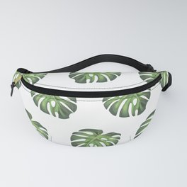 Green summer leaf of plantain pattern Fanny Pack
