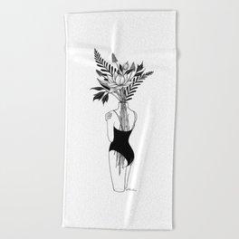 Fragile Beach Towel
