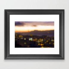 Sparkles at Sunset Framed Art Print