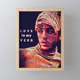 Painted Faces Bleeding Masks (L O V E is my V E R B) Framed Mini Art Print