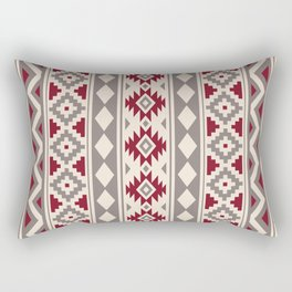Aztec Essence Ptn IIIb Red Cream Taupe Rectangular Pillow