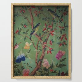 Green Dream Chinoiserie Serving Tray