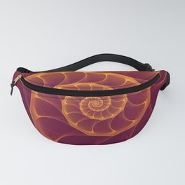 Infinity | Gold Burgundy Sea Shell Fanny Pack