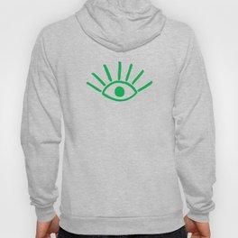 Green Evil Eye Pattern Hoody