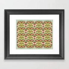 Green Fern Framed Art Print