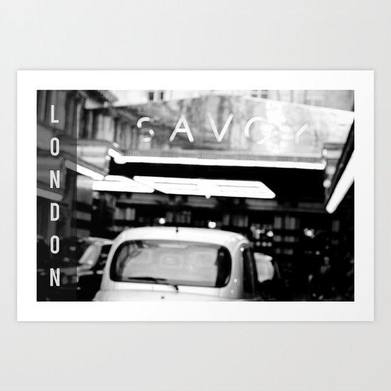 London Savoy hotel Art Print