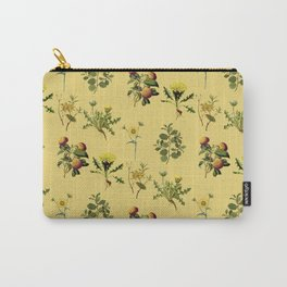Wild Forest & Field Yellow Flower Herb Pattern Carry-All Pouch