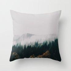Forest Fog Throw Pillow