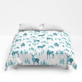 Ice Forest Deer Comforters