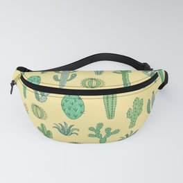 Cactus Pattern Yellow Fanny Pack