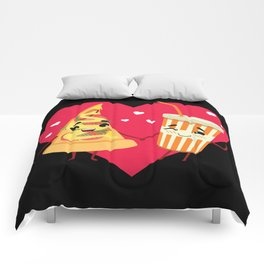 Fast Food Love - Unhealthy Couple Comforters
