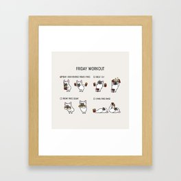 Friday Workout with French Bulldog Framed Art Print