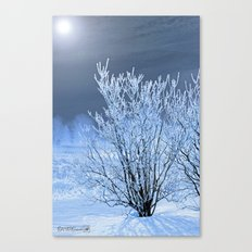 Hoar Frost on the Lilac Bush Canvas Print
