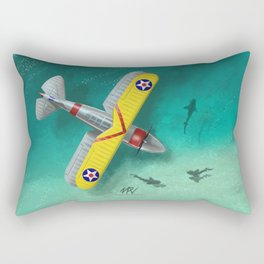 Duck in Trouble Rectangular Pillow
