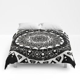 B&W Mandala Comforters