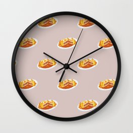 What I miss the most: Food Pattern Wall Clock