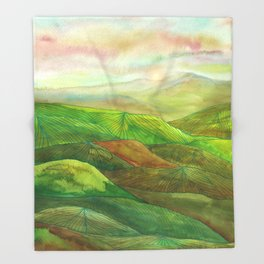 Lines in the mountains XVI Throw Blanket
