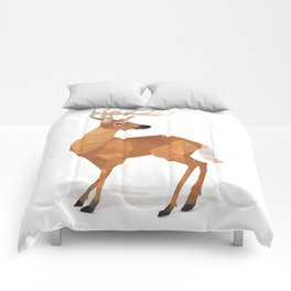Low Poly White-tailed Deer Comforters