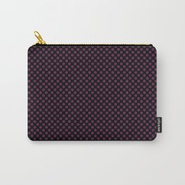 Black and Wild Berry Polka Dots Carry-All Pouch