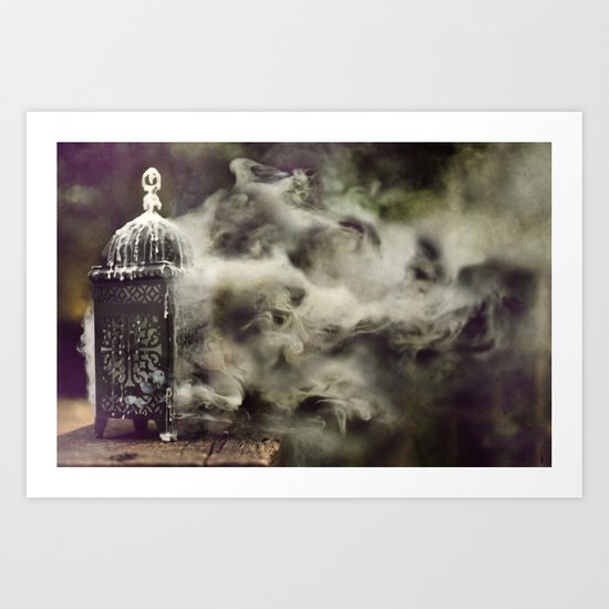 Grapevine fires Art Print