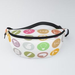 Science - Study Icons Fanny Pack