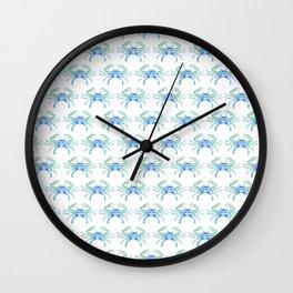 Ocean Blue Crab Wall Clock